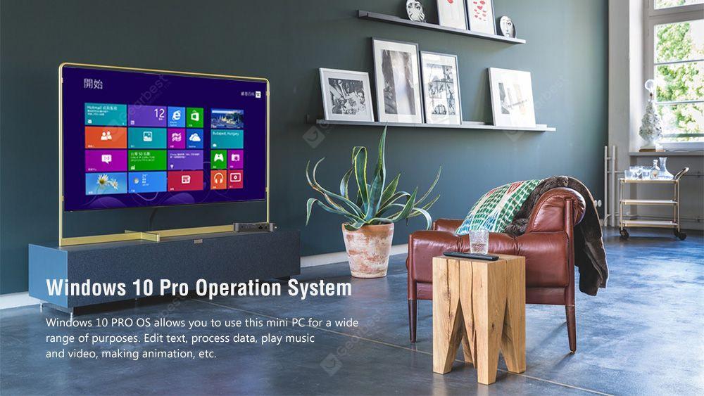 Minix Z83 - 4 Intel Fanless Mini PC Intel Cherry Trail X5 - Z8350 Intel HD grafika / bővíthető 2TB 2,5 hüvelykes SSD HDD / 4GB DDR3L + 64 GB EMMC / 2,4GHz + 5 GHz WiFi / 1000Mbps / USB3.0 / BT4.2 / Támogatás a Windows10 Home - Fekete