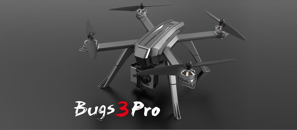 MJX Bug 3 Pro ( B3PRO ) 5G WiFi Camera FPV RC Drone - RTF- Silver 720P/2 Batteries