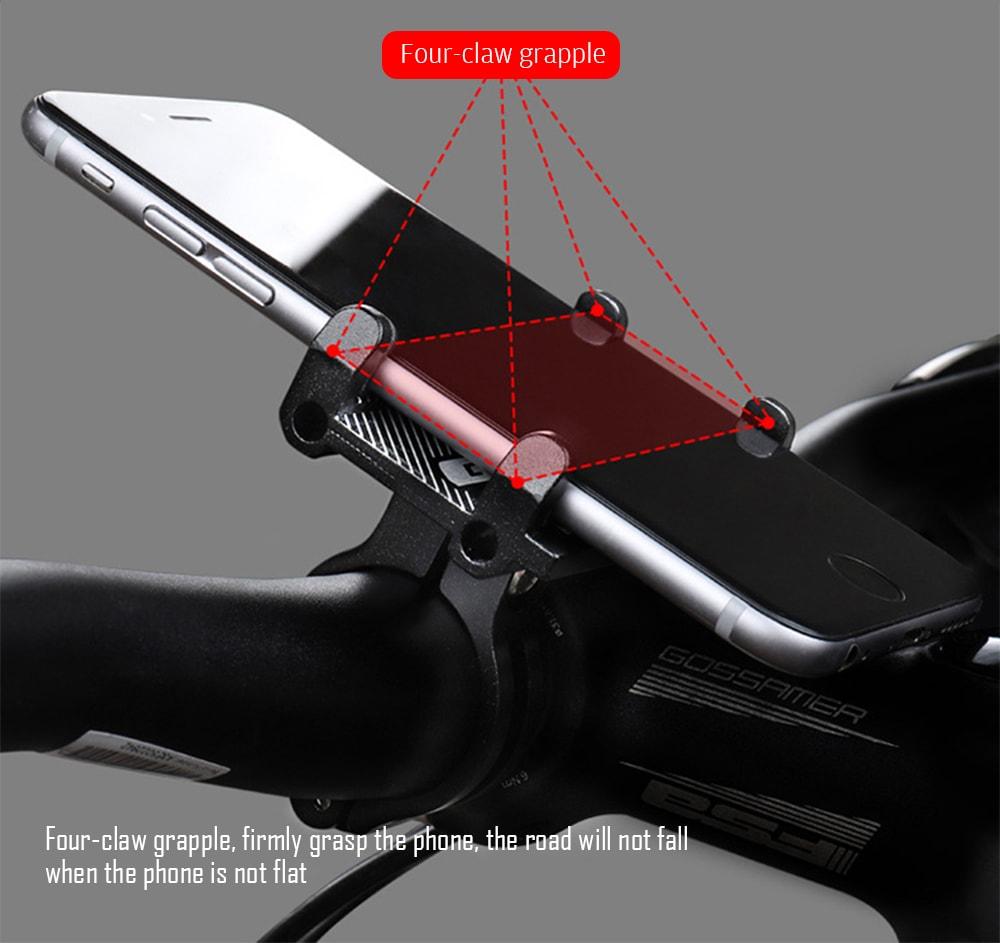 Motorkerékpár kerékpár robogó tartós mobiltelefon tartó - fekete