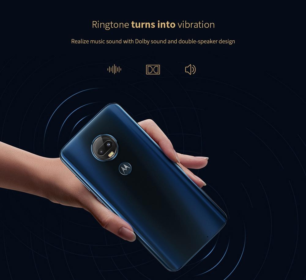 Motorola Moto G7 Plus 4G Phablet 6.24 inch Qualcomm Snapdragon 636 Octa Core 4GB RAM 128GB ROM 16.0MP + 5.0MP Rear Camera 3000mAh Battery- Red