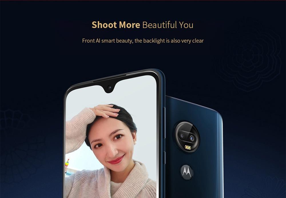 Motorola Moto G7 Plus 4G Phablet 6.24 inch Qualcomm Snapdragon 636 Octa Core 6GB RAM 128GB ROM 16.0MP + 5.0MP Rear Camera 3000mAh Battery- Red