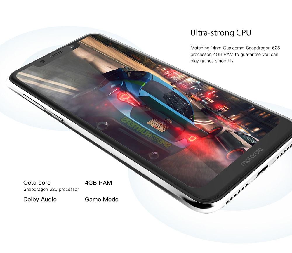 Motorola P30 Play 4G Phablet 5.88 inch ZUI 4.0 ( Android 8.1 )  Snapdragon 625 Octa Core 2.0GHz 4GB RAM 64GB ROM 13.0MP + 2.0MP Rear Camera Fingerprint Sensor 3000mAh Built-in- Black