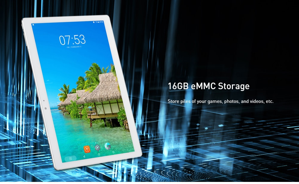 MT11 10,1 hüvelykes tabletta PC Android 6.0 MTK 8163A Négymagos CPU 2 GB RAM 16 GB ROM 5.0MP kamera 4500mAh beépített akkumulátor - arany