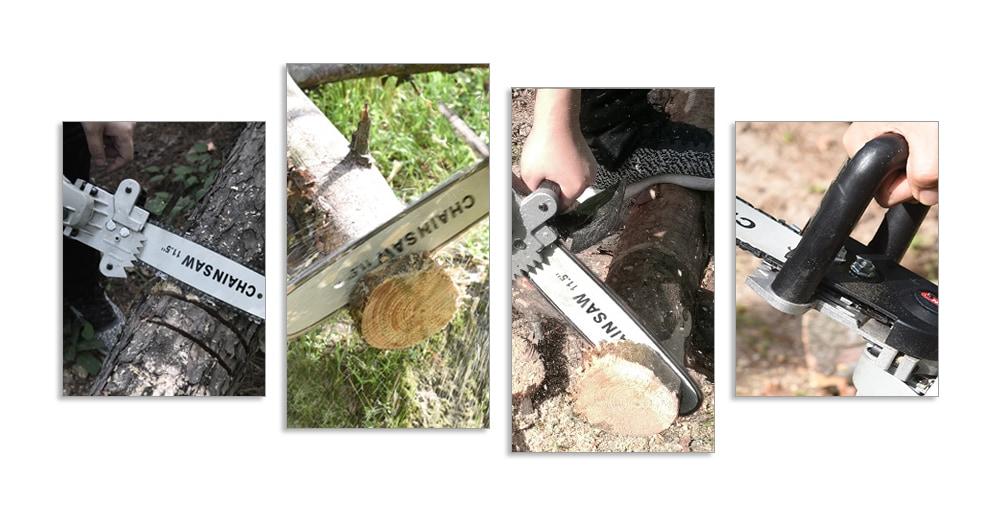 Többfunkciós hordozható kézi naplózási lánc - ezüst