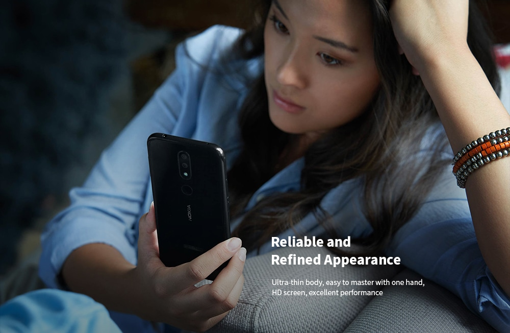 Nokia 4.2 4G Phablet 5.71 inch Android 9 Pie Snapdragon 439 Octa Core 3GB RAM 32GB ROM 13.0MP + 2.0MP Rear Camera 3000mAh Battery- Black