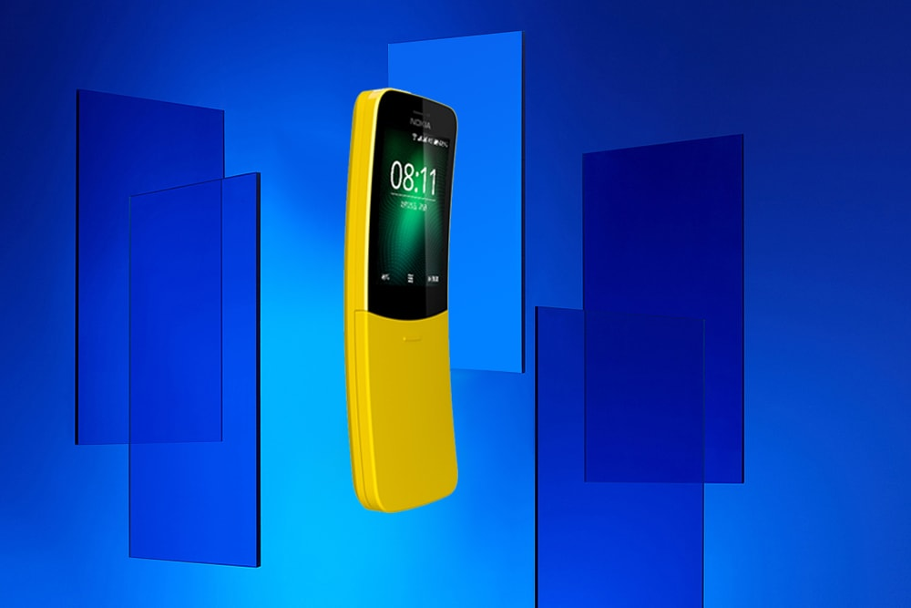 Nokia 8110 4G Feature Phone 2.45 inch Smart Feature OS MSM8905 Dual Core 1.1GHz 512MB RAM 4GB ROM 2.0MP Rear Camera BT 4.1 1500mAh Built-in- Black