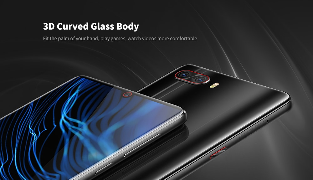 Nubia Z18 4G Phablet 6 inch Android 8.1 Snapdragon 845 Octa Core 8GB RAM 128GB ROM 16.0MP + 24.0MP Rear Camera 3450mAh Battery- Black