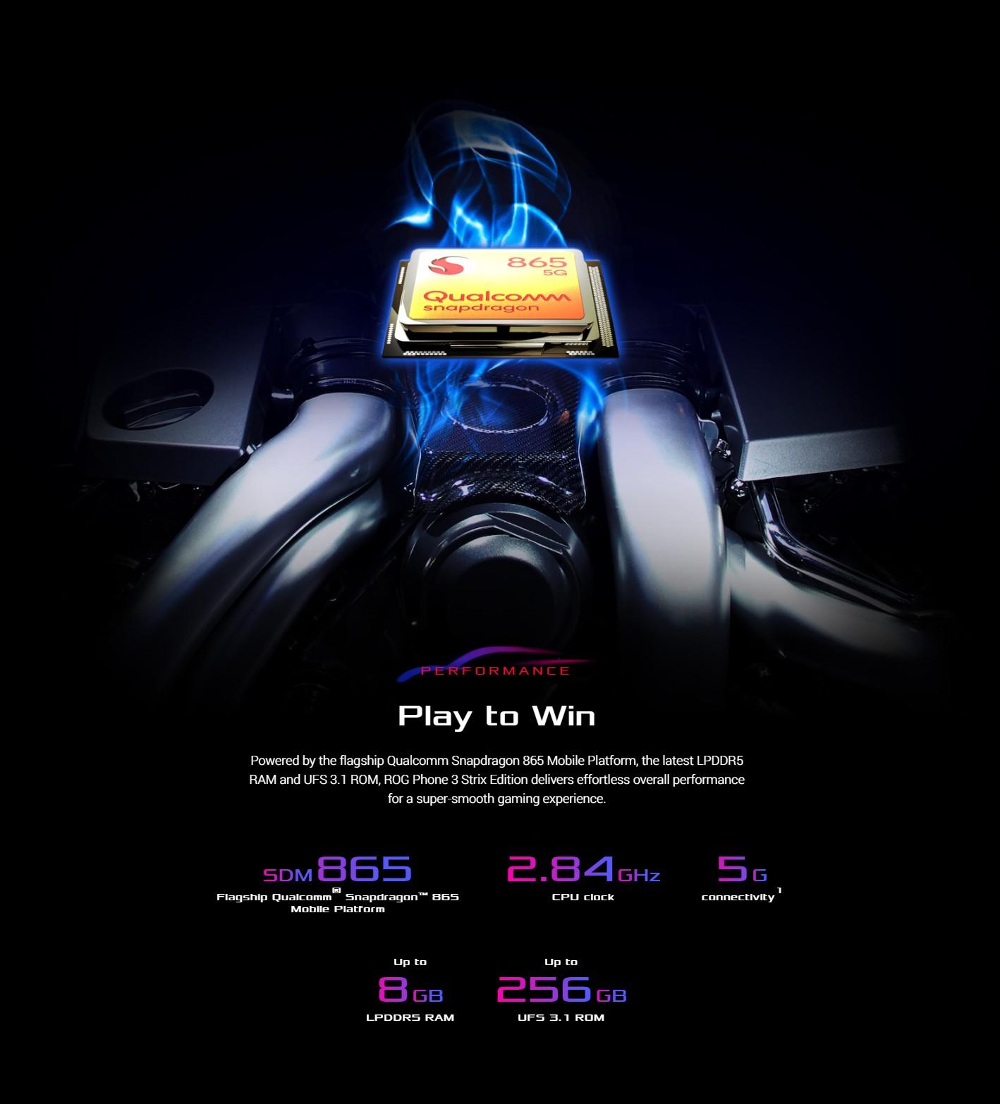 ASUS ROG Phone 3 Gaming 5G Smartphone CPU