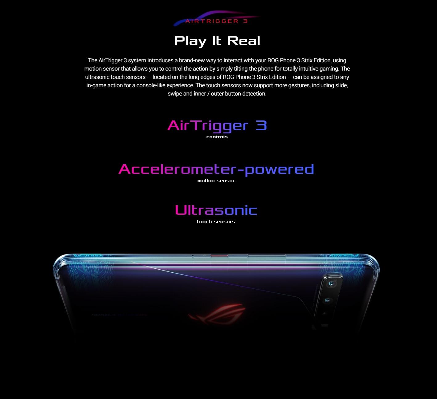 ASUS ROG Phone 3 Gaming 5G Smartphone Air Trigger 3
