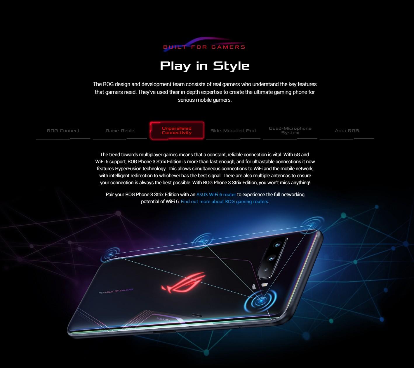 ASUS ROG Phone 3 Gaming 5G Smartphone WiFi