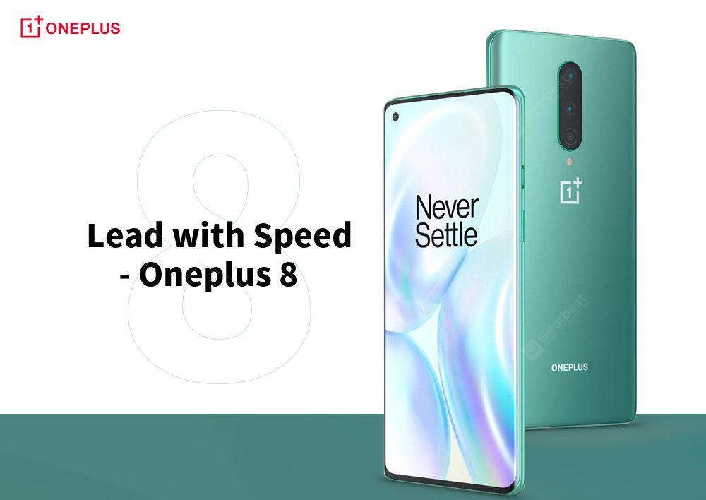 Oneplus 8 5G Smartphone 6 .55 inch Snapdragon 865 International Version - Light Sea Green 8GB+128GB
