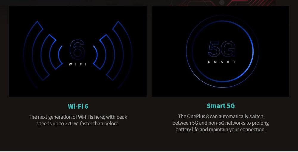 Oneplus 8 5G Smartphone 6 .55 inch Snapdragon 865 International Version - Light Sea Green 12GB+256GB