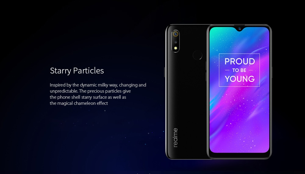 OPPO Realme 3 4G Phablet 6.2 inch Android 9.0 Helio P70 Octa Core 3GB RAM 32GB ROM 13.0MP + 2.0MP Rear Camera 4230mAh Battery- Ocean Blue