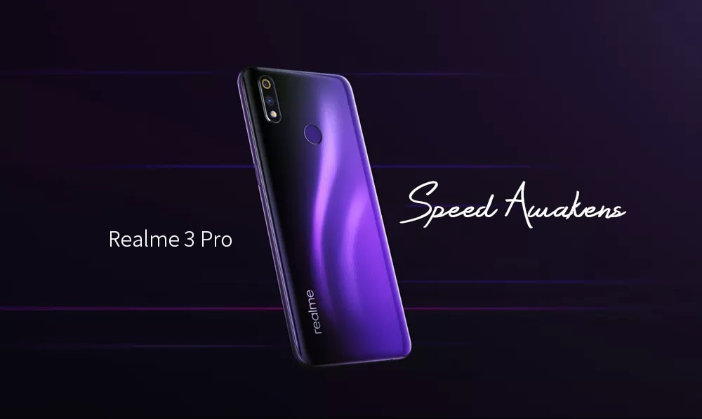 OPPO Realme 3 Pro 4G Phablet 6.3 inch Android 9.0 Snapdragon 710 Octa Core 6GB RAM 128GB ROM 16.0MP + 5.0MP Rear Camera 4045mAh Battery- Violet
