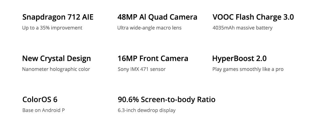 OPPO Realme 5 Pro 4G Phablet 8GB RAM 128GB ROM- Blue