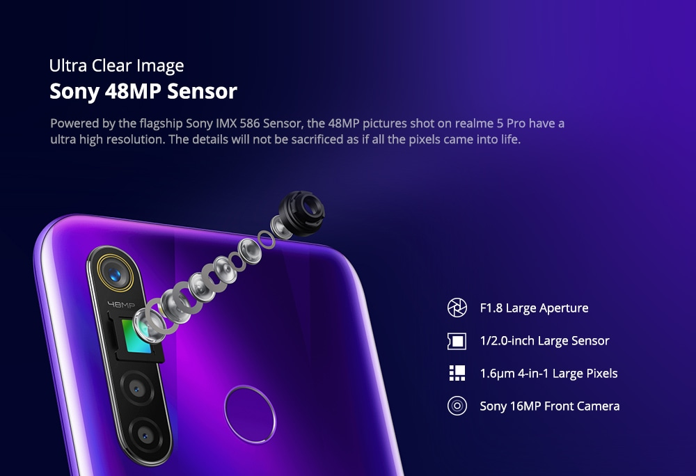 OPPO Realme 5 Pro 4G Phablet 8GB RAM 128GB ROM- Green