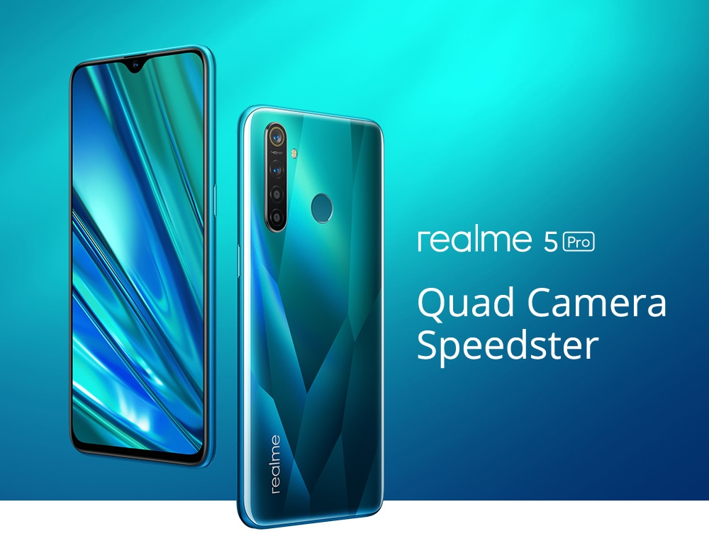 OPPO Realme 5 Pro 4G Phablet 4GB RAM 128GB ROM- Green