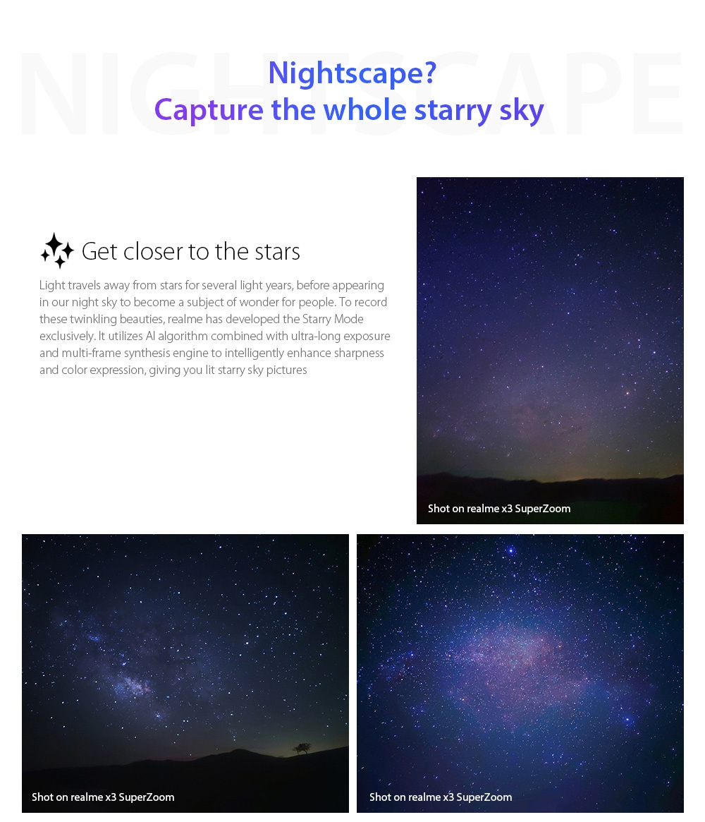OPPO realme X3 SuperZoom 4G Smartphone nightscape