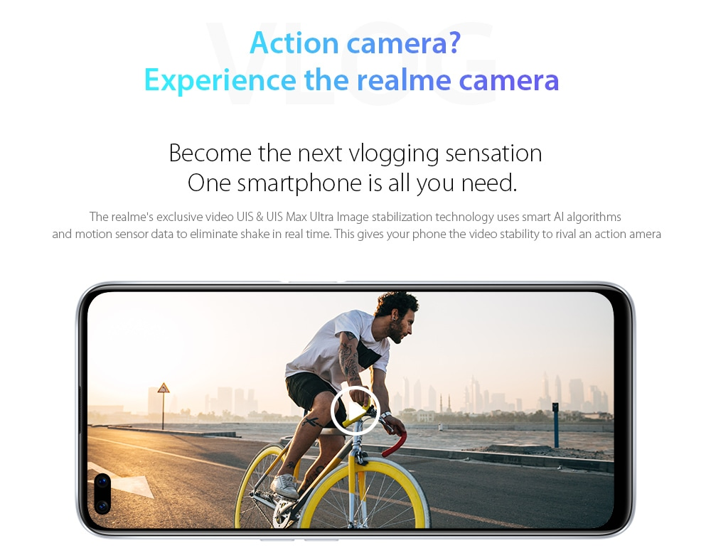 OPPO realme X3 SuperZoom 4G Smartphone Become the next vlogging sensation. One smartphone is all you need