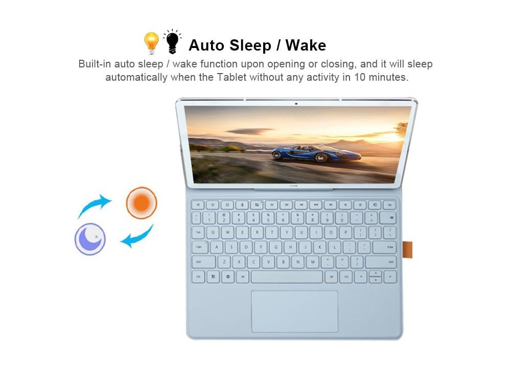 Eredeti HUAWEI Ultra-vékony egyrészes billentyűzet állvány tok, automatikus alvó / ébresztés a MediaPad M5 számára 10.8 / M5 Pro- Világosbarna