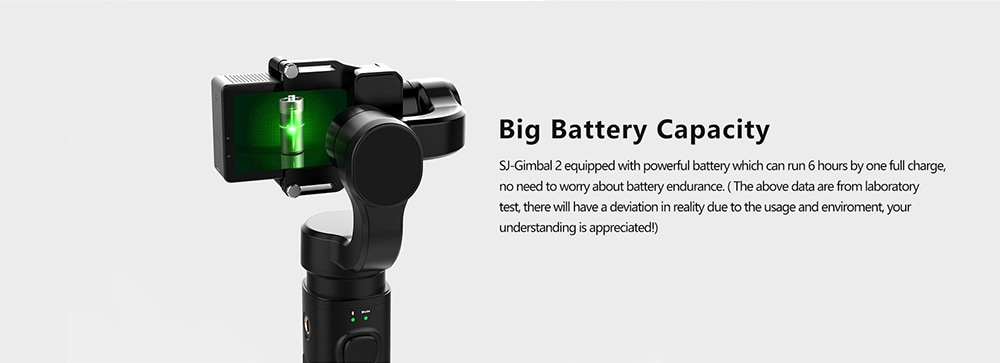 Eredeti SJCAM SJ - GIMBAL 2 3 tengelyes kézi gimbal stabilizátor akciós kamerákhoz - fekete
