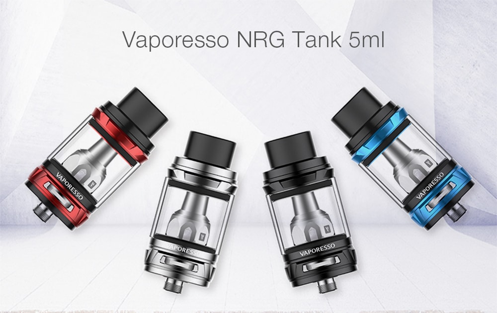 Original Vaporesso NRG Tank 5ml with Top Filling / 0.15 ohm for E Cigarette- Black