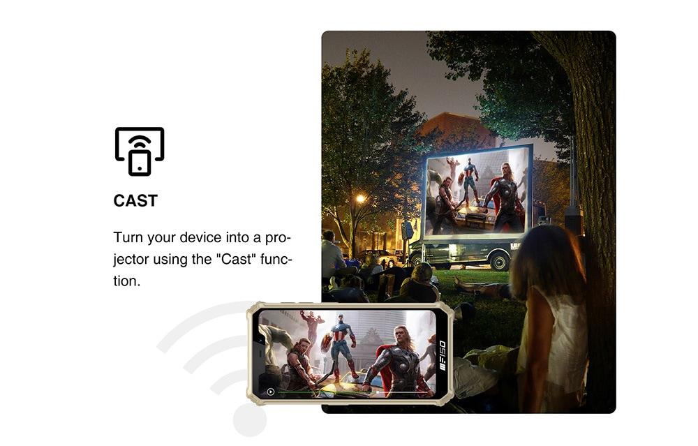 Oukitel Bison 2021 4G okostelefonos robusztus telefon globális verzió - sárga EU verzió