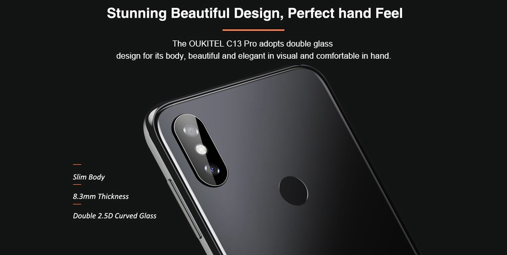 OUKITEL C13 Pro 4G Phablet 6.18 inch Android 9.0 OS MT6739 Quad Core 1.5GHz IMG 8XE 1PPC 2GB RAM 16GB ROM 3 Camera 3000mAh Battery Built-in- Black EU Plug