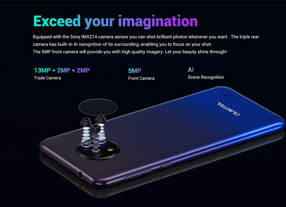 OUKITEL C19 4G Smartphone - Black