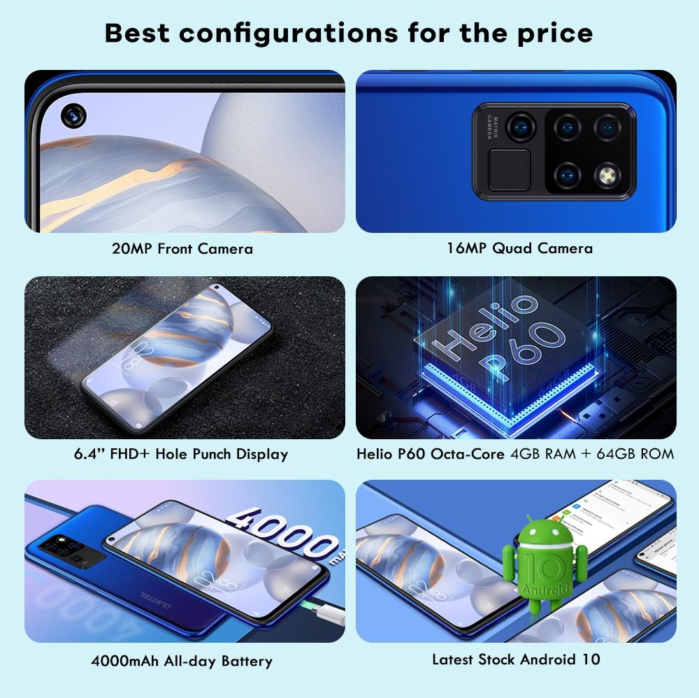 OUKITEL C21 4G Smartphone Global Version - Purple