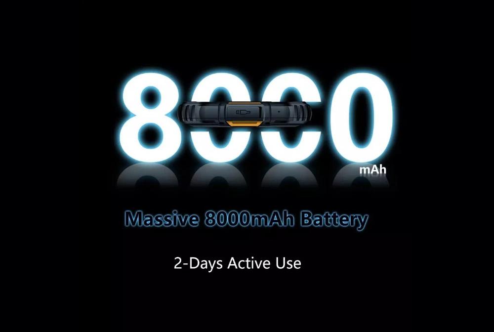 Oukitel WP10 okostelefon 5G robusztus telefon 8000mAh 6,67 hüvelykes FHD teljes képernyős 8 GB-os 128 GB-os négykamera 48MP - fekete