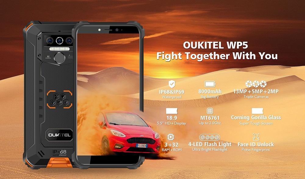 OUKITEL WP5 4G Phablet Global Version- Black
