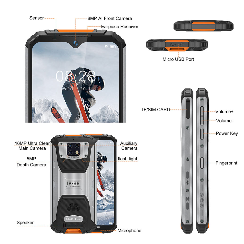 OUKITEL WP6 4G Smartphone 10000mAh Battery Global Version - Orange Standard Edition