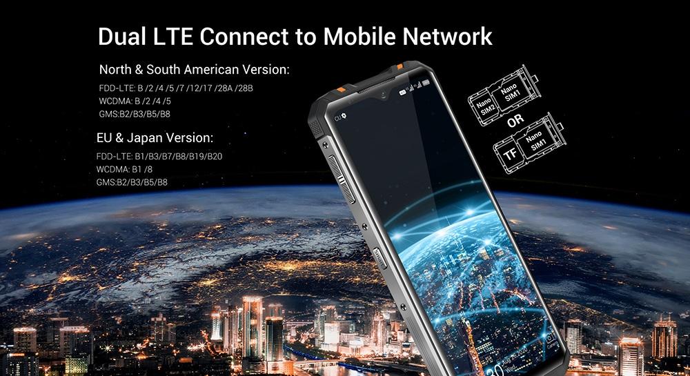 OUKITEL WP8 Pro NFC IP68 Rugged 4G Rugged Smartphone 6.49 inch Global Version - Black