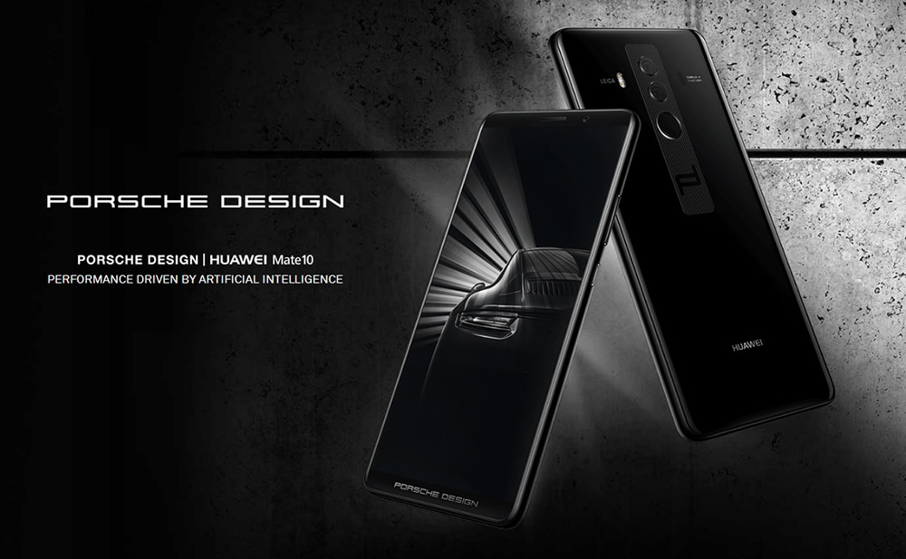 PORSCHE DESIGN HUAWEI Mate 10 4G Phablet 6.0 inch Android 8.0 Kirin 970 Octa Core 1.8GHz 6GB RAM 256GB ROM 20.0MP + 12.0MP Dual Rear Cameras Fingerprint Sensor 4000mAh Built-in- Black