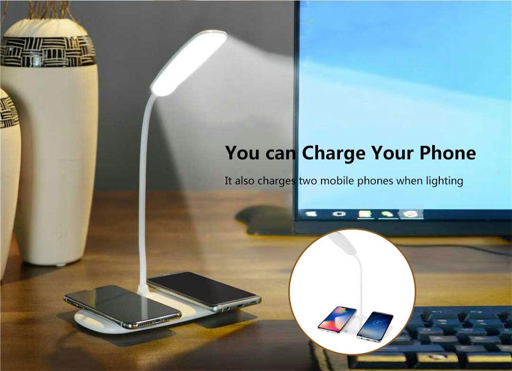 QL8 mobiltelefon vezeték nélküli töltő lámpa - tej fehér