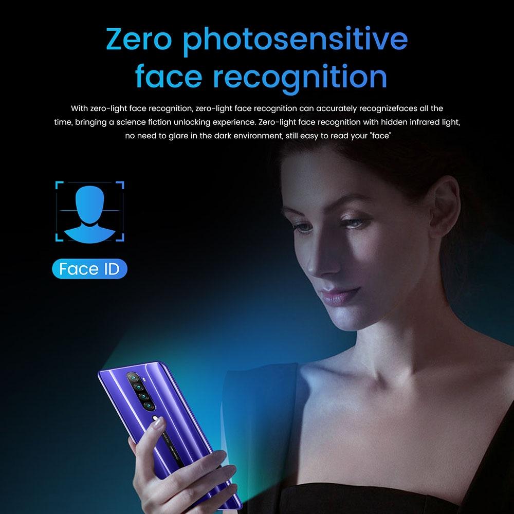 Rino5 MTK6580 okostelefon 6,3 hüvelykes, 2 GB RAM, 16 GB-os ROM, Android 9.0, 8MP, 16MP-os fényképezőgépek 4000mah akkumulátoros arcazonosító ujjlenyomat-felismerés - lila AU csatlakozó