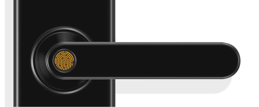 RSH - WD003 Támogatja az Alexa Voice Control intelligens otthoni Wifi ajtózárat - fekete