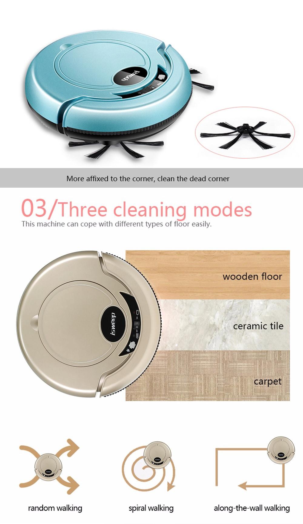 S320 Robot porszívó Mopping ruhával - Arany EU csatlakozó