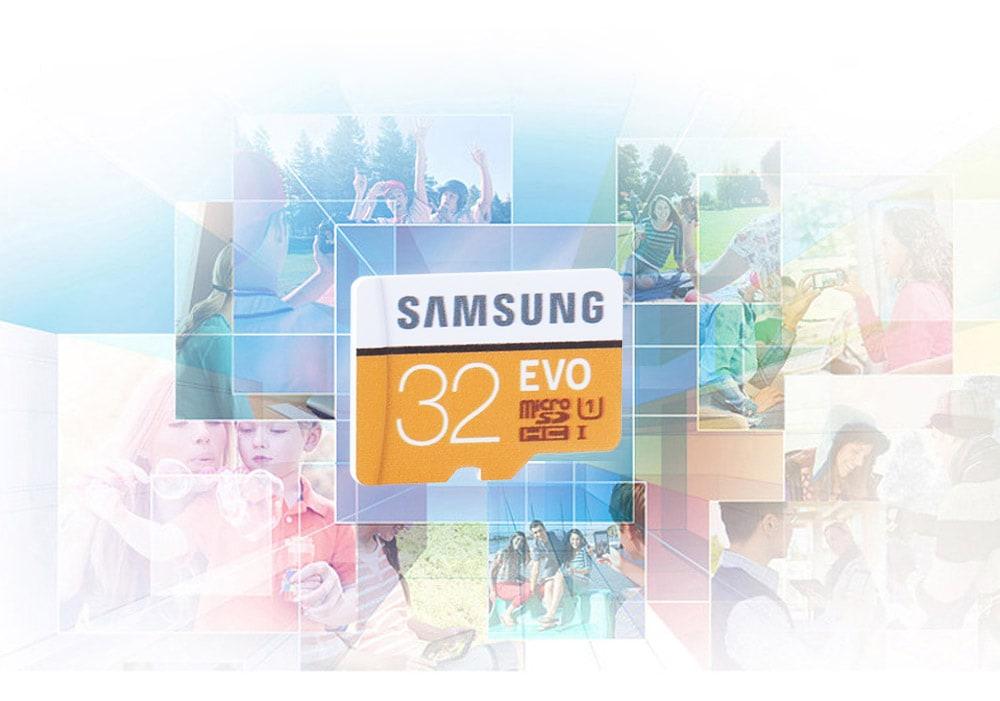 Samsung EVO UHS-3 Micro SDXC Memory Card- Orange + White 128GB