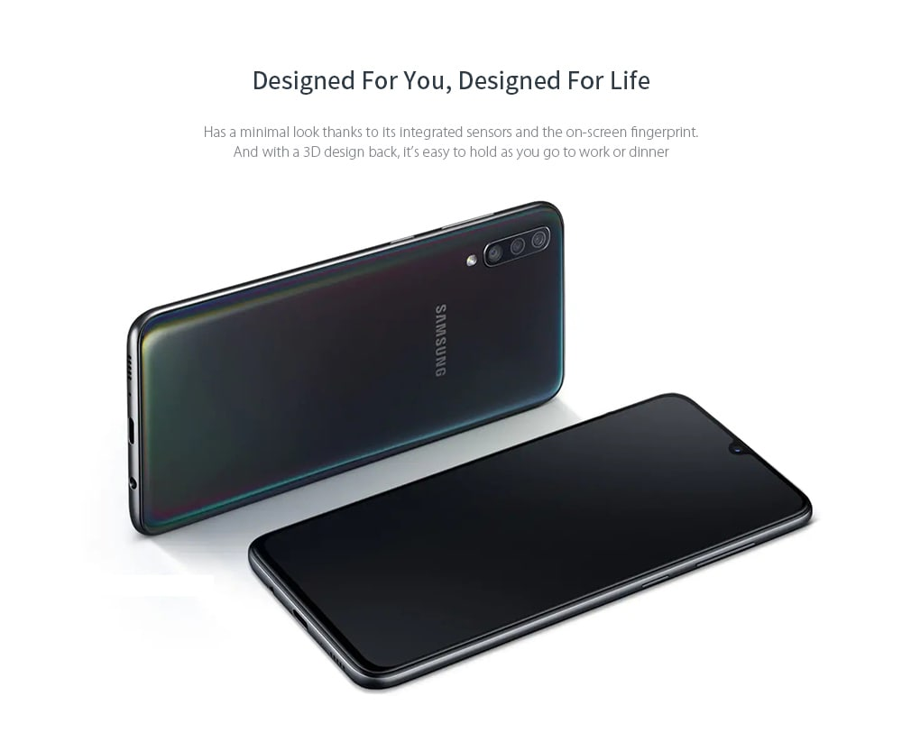 SAMSUNG Galaxy A70 4G Phablet 6.7 inch Android Qualcomm Snapdragon 675 Octa Core 6GB RAM 128GB ROM 32.0MP + 5.0MP + 8.0MP Rear Camera 4500mAh Battery- Black