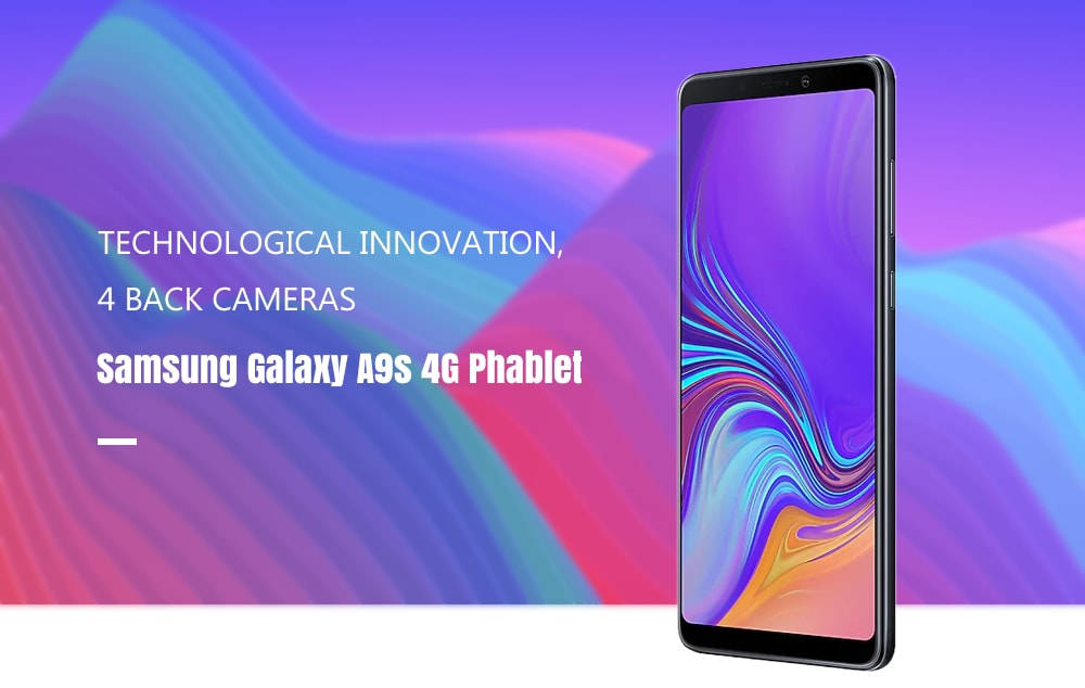 Samsung Galaxy A9s 4G Phablet 6.3 inch Android 8.0 Snapdragon 660 Octa Core 6GB RAM 128GB ROM 24.0MP + 5.0MP + 10.0MP + 8.0MP Rear Camera 3800mAh Battery- Black