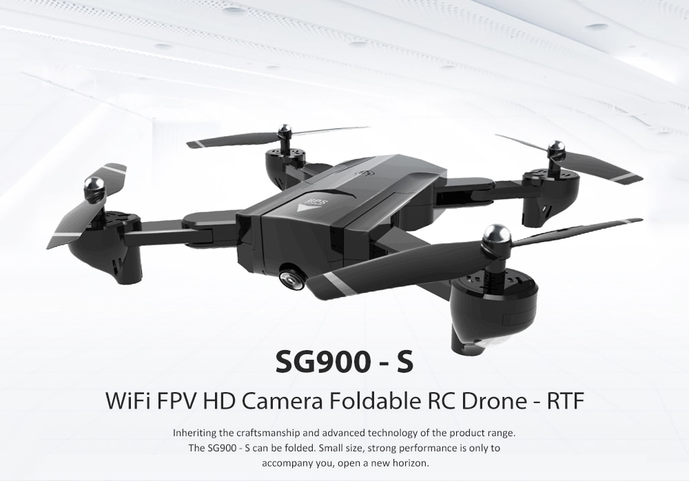 SG900 - S WiFi FPV HD Camera Foldable RC Drone - RTF GPS Positioning Mode / Automatic Point Flight- Black 1080P 1100mah