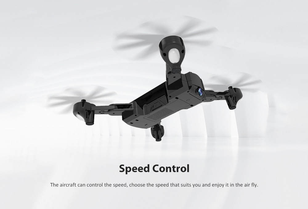 SG900 - S WiFi FPV HD Camera Foldable RC Drone - RTF GPS Positioning Mode / Automatic Point Flight- Black 720P 1600mah