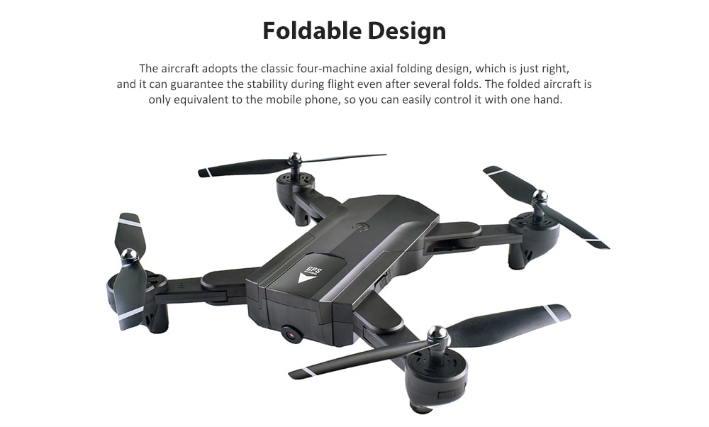 SG900 - S WiFi FPV HD Camera Foldable RC Drone - RTF GPS Positioning Mode / Automatic Point Flight- White 720P 1100mAh