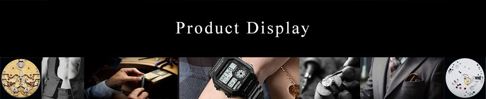 SKMEI Men Sports  Waterproof Watch Stainless Steel Fashion Digital Wristwatches- Black