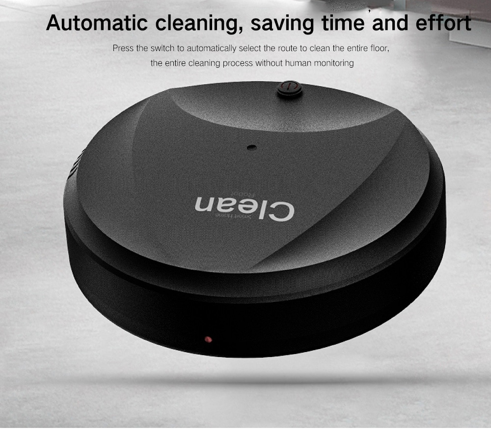 Slim USB Intelligent Automatic Sweeping Robot - White USB Port