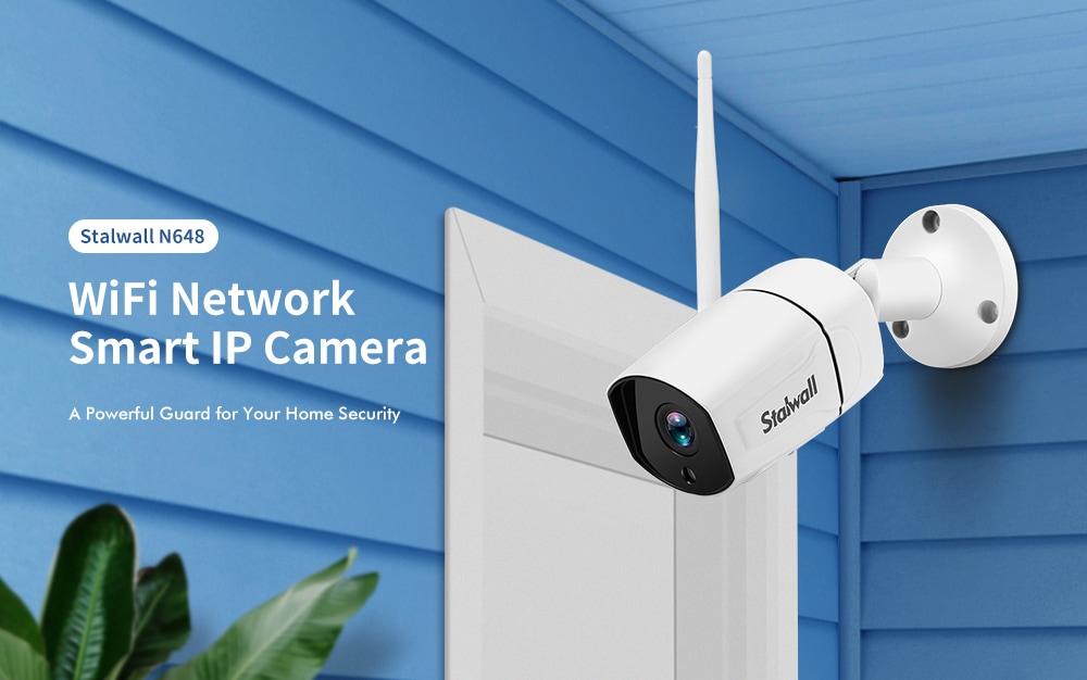 Stalwall N648 Smart Security 1080P AI WiFi IP kamera - fehér