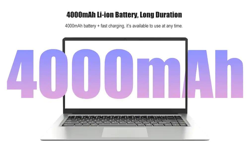 Tbao Tbook X8S Rendkívül vékony laptop 15,6 hüvelykes Windows 10 Intel Celeron J3455 négymagos 2.3 GHz 8 GB DDR4 128 GB SSD Mini HDMI - Ezüst