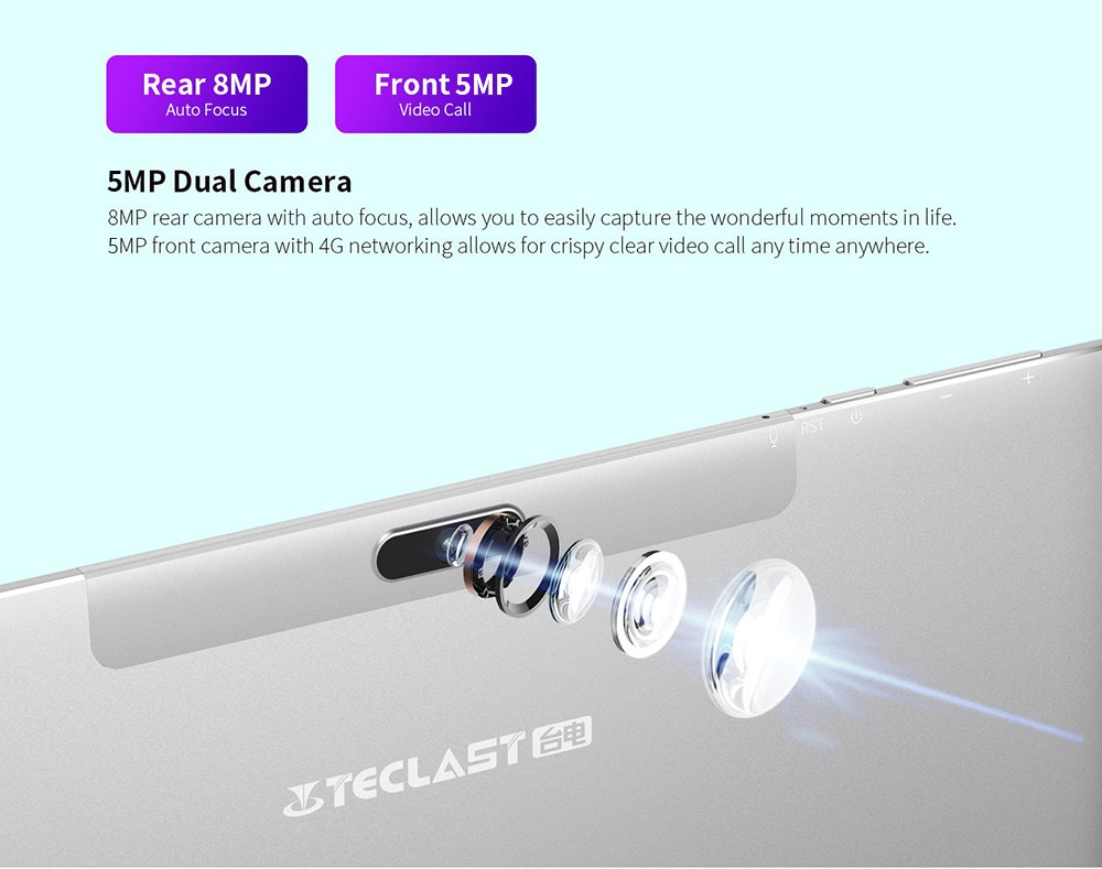 Teclast M30 Pro Tablet Front 5MP + Rear 8MP Dual Cameras